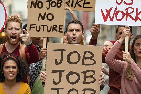 Werkloosheid wordt groter als gevolg van Corona